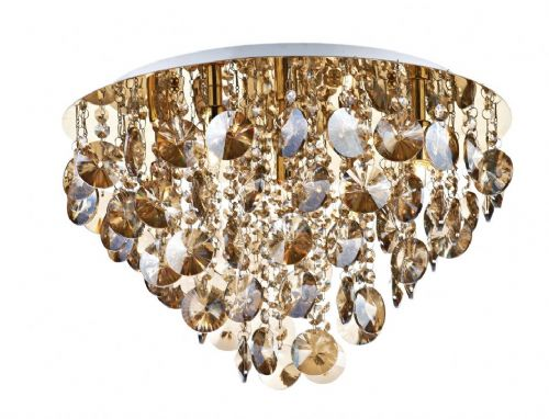 Jester 5-light French Gold Flush Ceiling Light JES5440